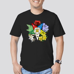 Eastern Star Floral Men's Fitted T-Shirt (dark)