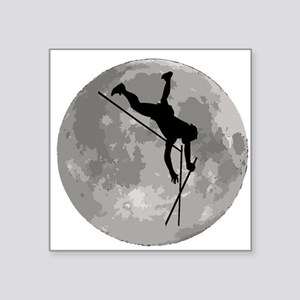 Pole Vaulter Moon Sticker