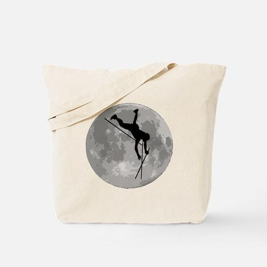 Pole Vaulter Moon Tote Bag
