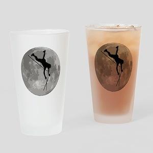 Pole Vaulter Moon Drinking Glass