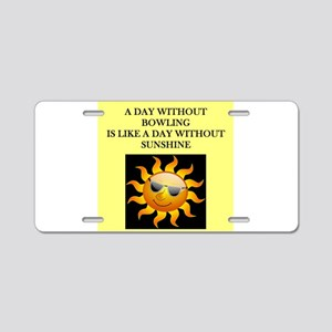 bowling Aluminum License Plate
