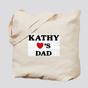 Kathy loves dad Tote Bag