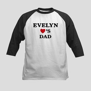 Evelyn loves dad Kids Baseball Jersey
