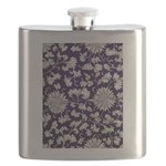 Abstract Whimsical Flowers Flask