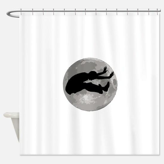 Long Jumper Moon Shower Curtain