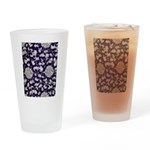 Abstract Whimsical Flowers Drinking Glass