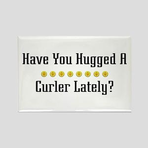 Hugged Curler Rectangle Magnet