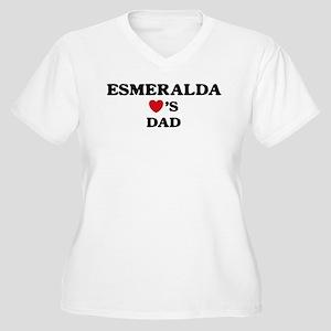 Esmeralda loves dad Women's Plus Size V-Neck T-Shi
