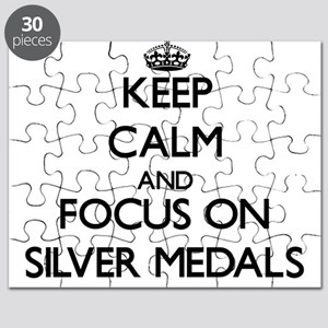 Keep Calm and focus on Silver Medals Puzzle