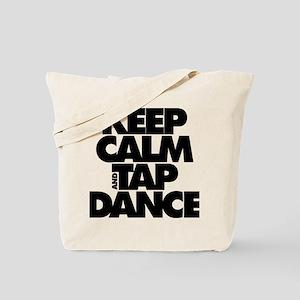 Keep Calm and Tap Dance (black) Tote Bag