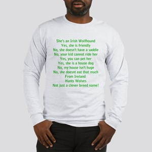 Questions Answered (she) Long Sleeve T-Shirt