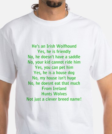 Wolfie Questions Answered (he) - White T-Shirt
