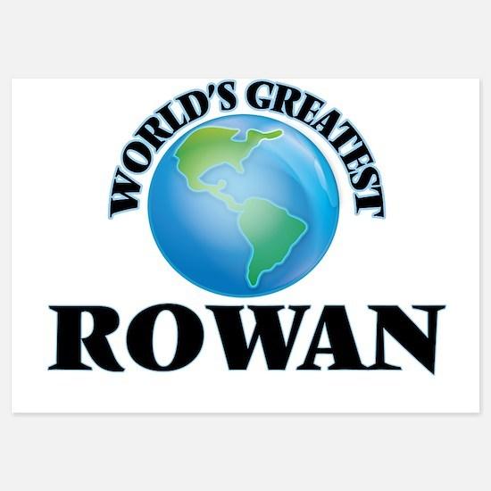 World's Greatest Rowan Invitations