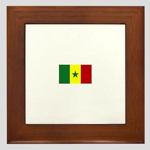 senegal flag Framed Tile