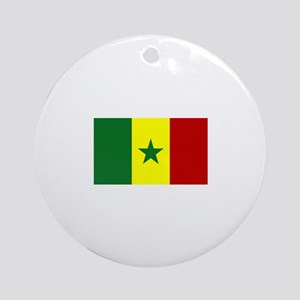 senegal flag Ornament (Round)