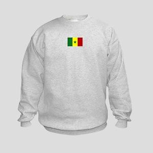 senegal flag Kids Sweatshirt