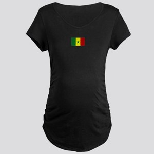 senegal flag Maternity Dark T-Shirt