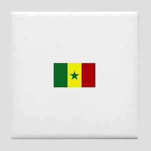 senegal flag Tile Coaster