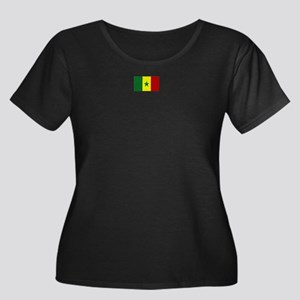 senegal flag Women's Plus Size Scoop Neck Dark T-S