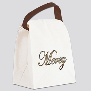 Gold Mercy Canvas Lunch Bag