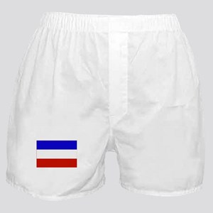 serbia and montenegro flag Boxer Shorts