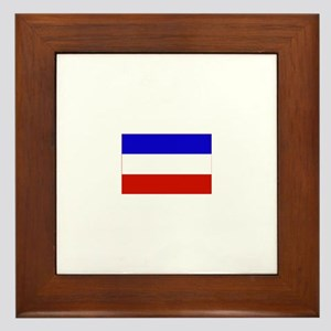 serbia and montenegro flag Framed Tile