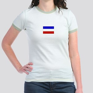 serbia and montenegro flag Jr. Ringer T-Shirt