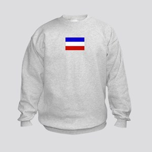 serbia and montenegro flag Kids Sweatshirt