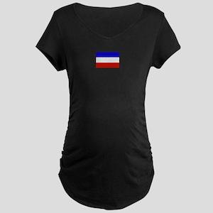 serbia and montenegro flag Maternity Dark T-Shirt