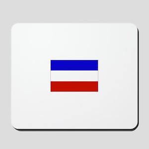 serbia and montenegro flag Mousepad