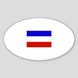 serbia and montenegro flag Oval Sticker