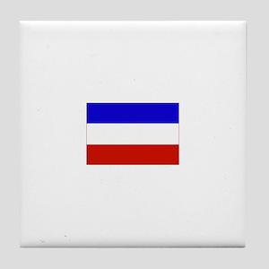 serbia and montenegro flag Tile Coaster
