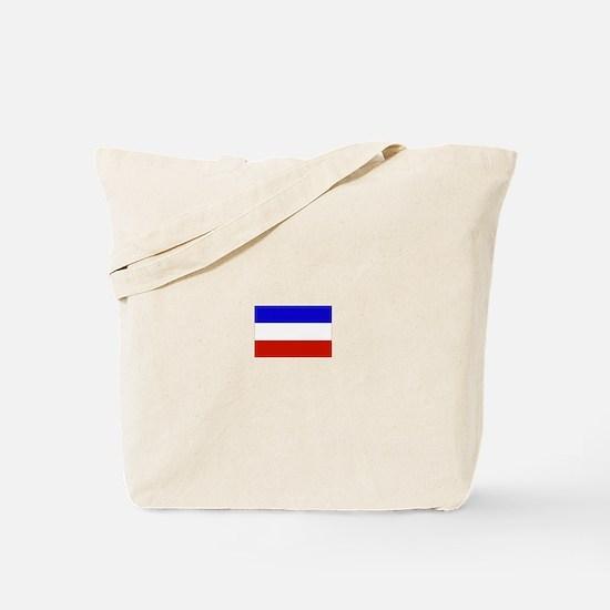 serbia and montenegro flag Tote Bag
