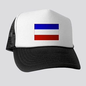 serbia and montenegro flag Trucker Hat