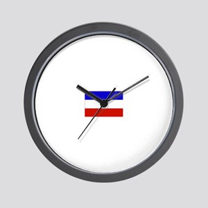 serbia and montenegro flag Wall Clock