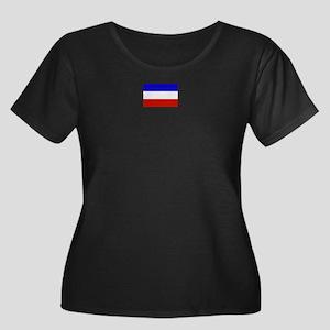 serbia and montenegro flag Women's Plus Size Scoop