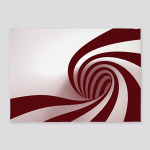Peppermint Swirl 5'x7'area Rug