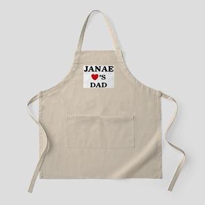 Janae loves dad BBQ Apron