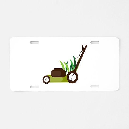 Lawn Mower Aluminum License Plate