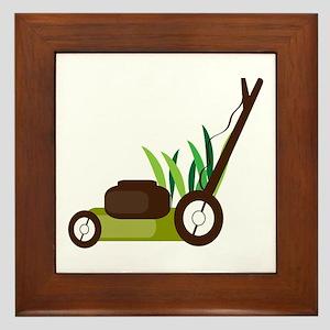 Lawn Mower Framed Tile