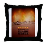 Battle Against The Islamic State Throw Pillow