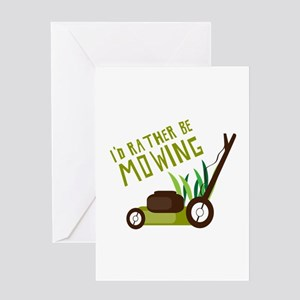 Rather be Mowing Greeting Cards