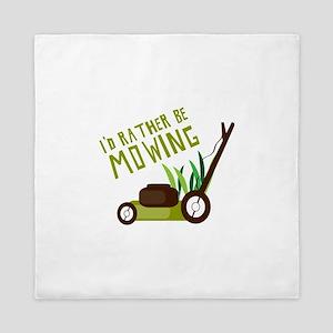 Rather be Mowing Queen Duvet