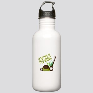 Rather be Mowing Water Bottle