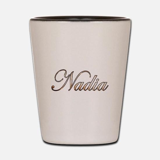 Gold Nadia Shot Glass