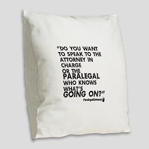 PG text 2 Burlap Throw Pillow