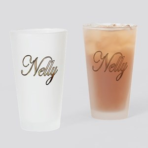 Gold Nelly Drinking Glass