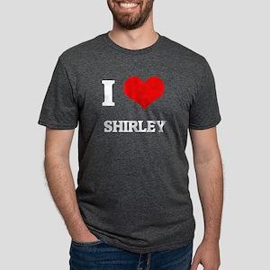 I Love Shirley Black T-Shirt