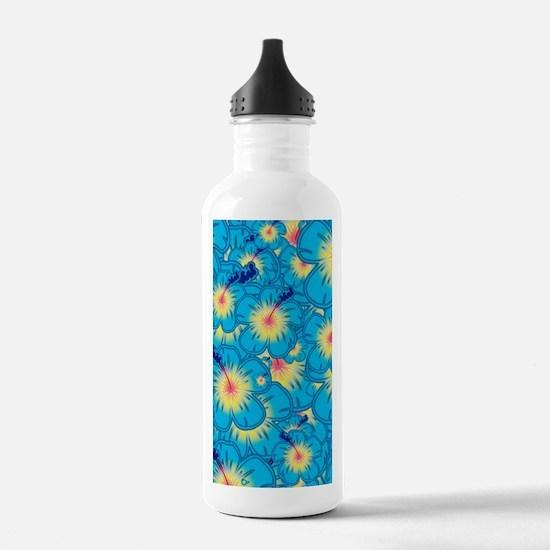 Light blue hibiscus Water Bottle