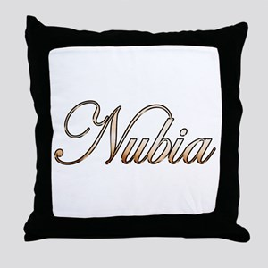 Gold Nubia Throw Pillow
